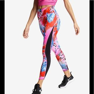 Nike One Women's Printed Fuchsia Floral Tights M